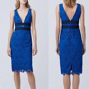 NWT DVF Viera Lace Sleeveless V-Neck Sheath Dress